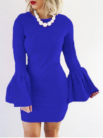 Online Petal Sleeve Fitted Bodycon Dress