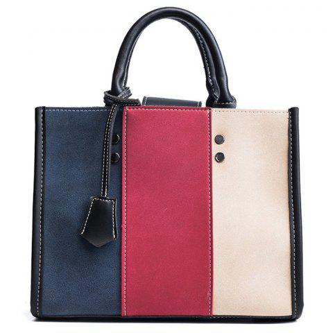 Cheap Striped Color Block Stitching Handbag