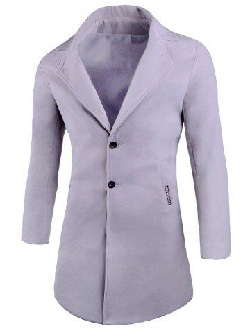 Buy Two Button Lapel Wool Blend Coat