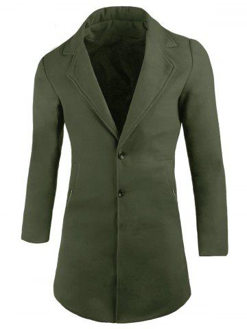 Online Two Button Lapel Wool Blend Coat