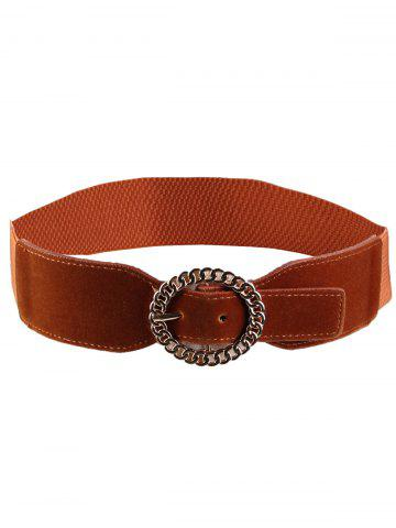 Shops Vintage Hollow Out Round Shape Buckle Elastic Waist Belt