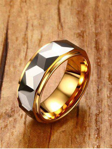 Shop Two Tone Geometric Finger Ring
