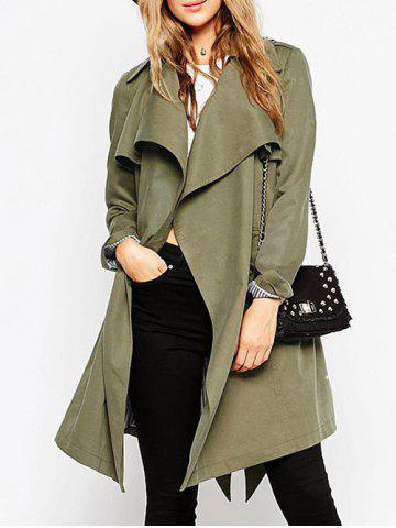 Store Belted Tunic Wrap Trench Coat