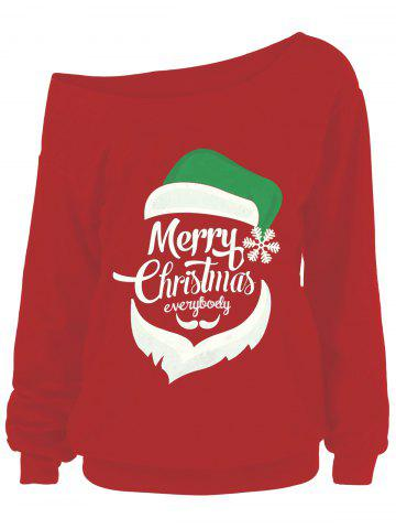 Cheap Merry Christmas Plus Size Santa Claus Sweatshirts