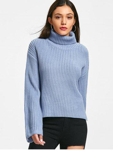 Discount Turtleneck Chunky Tunic Sweater