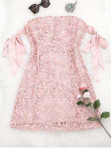 Outfit Bowknot Lace Tube Mini Dress
