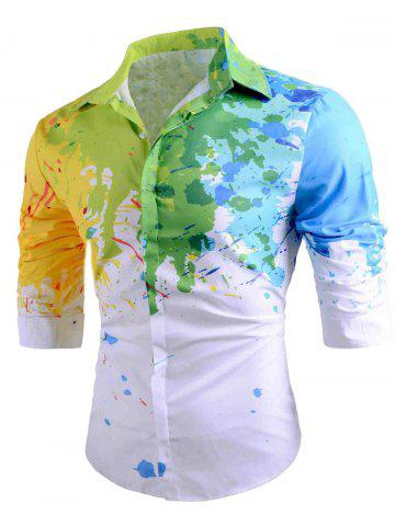 New Colored Paint Splatter Long Sleeve Shirt
