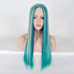 Long Center Parting Colormix Straight Party Synthetic Wig -