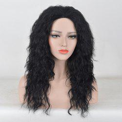 Long Center Parting Fluffy Water Wave Synthetic Party Wig -
