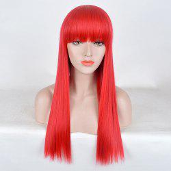 Long Full Bang Straight Party Synthetic Wig -