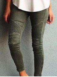 Side Zipper Embellished Skinny Jeans -