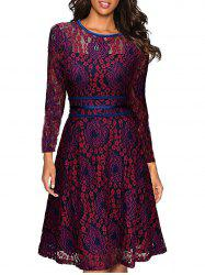 Knee Length Lace A-line Dress -