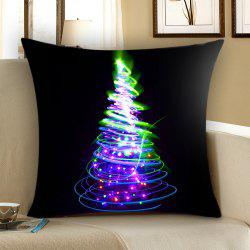 Colored Christmas Tree Patterned Throw Pillow Case -