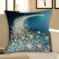 Christmas Starlight Print Throw Pillow Case - Blue - W18 Inch * L18 Inch