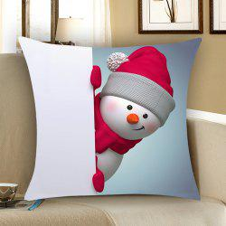 Christmas Snowman Patterned Throw Pillow Case - Red And White - W18 Inch * L18 Inch