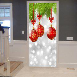 Christmas Baubles Pattern Door Cover Stickers