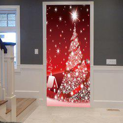 Sparkling Christmas Tree Pattern Door Cover Stickers