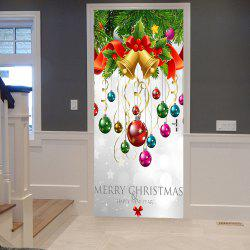 Christmas Ornaments Pattern Door Stickers - 38.5*200cm*2pcs