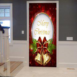 Christmas Bells Pattern Door Stickers -
