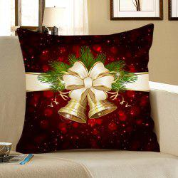 Christmas Bell Printed Square Pillow Case - Colorful - W18 Inch * L18 Inch