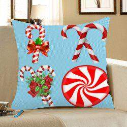 Christmas Candy Bar Pattern Square Pillow Case -
