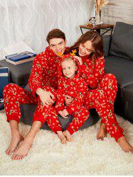 Rudolph Matching Christmas Family Pajama - Red - Mom M
