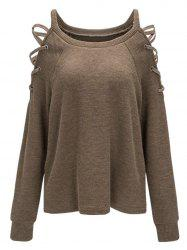 Epaulière Cold Criss Cross Knitwear -