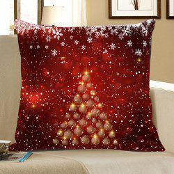 Snowflakes Balls Christmas Tree Patterned Throw Pillow Case -