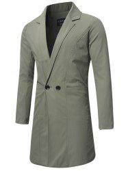 Longline Double Breasted Trench Coat -