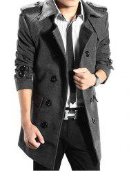 Trench-coat à Double Boutonnage en Laine -