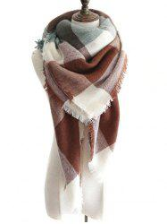 Outdoor Colormix Embellished Fringed Shawl Scarf -