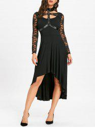 Open Back High Low Dress with Choker -