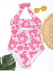 Halter One Piece Floral Swimsuit -