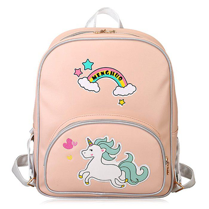 Outfits Color Block Rainbow Unicorn Backpack