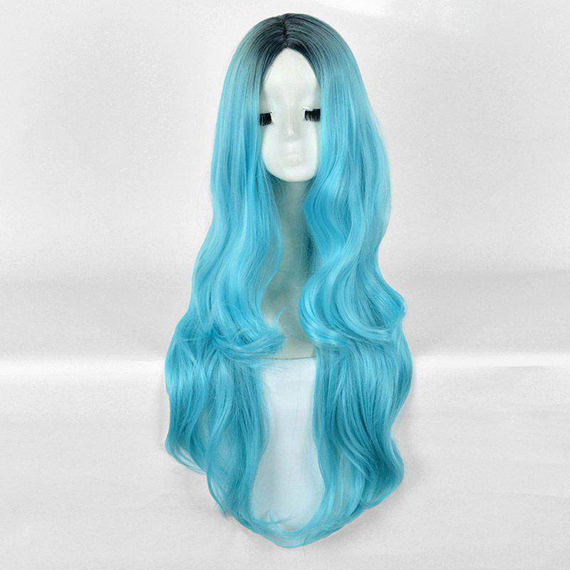 Shops Long Center Parting Wavy Ombre Synthetic Party Wig