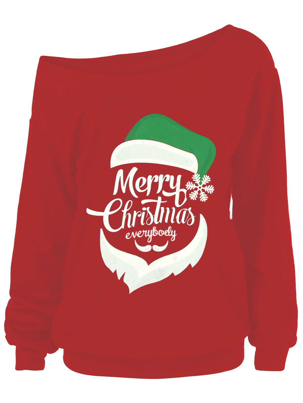 Merry Christmas Plus Size Santa Claus SweatshirtsWOMEN<br><br>Size: 2XL; Color: RED; Material: Polyester,Spandex; Shirt Length: Regular; Sleeve Length: Full; Style: Fashion; Pattern Style: Others; Season: Fall,Spring; Weight: 0.4500kg; Package Contents: 1 x Sweatshirts;
