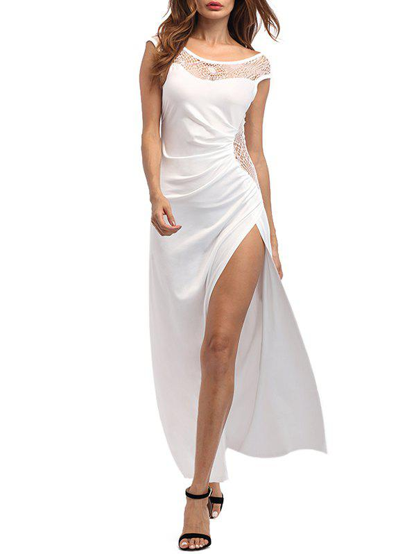 Shop High Slit Draped Party Maxi Dress