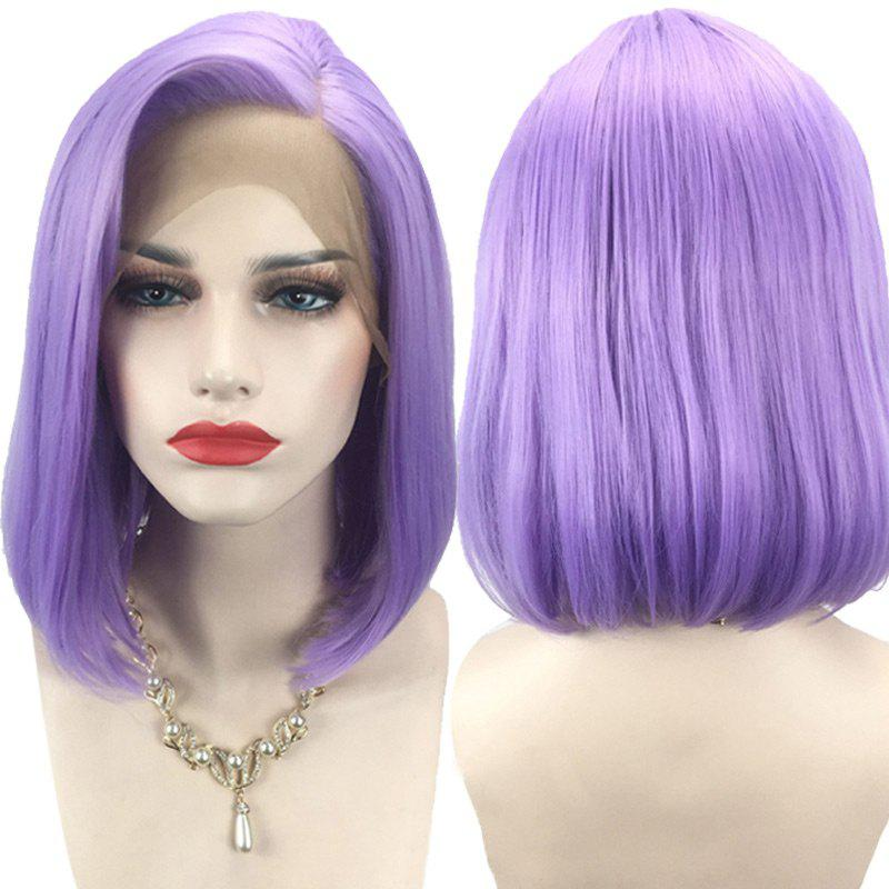 Outfit Side Parting Straight Short Bob Synthetic Lace Front Wig