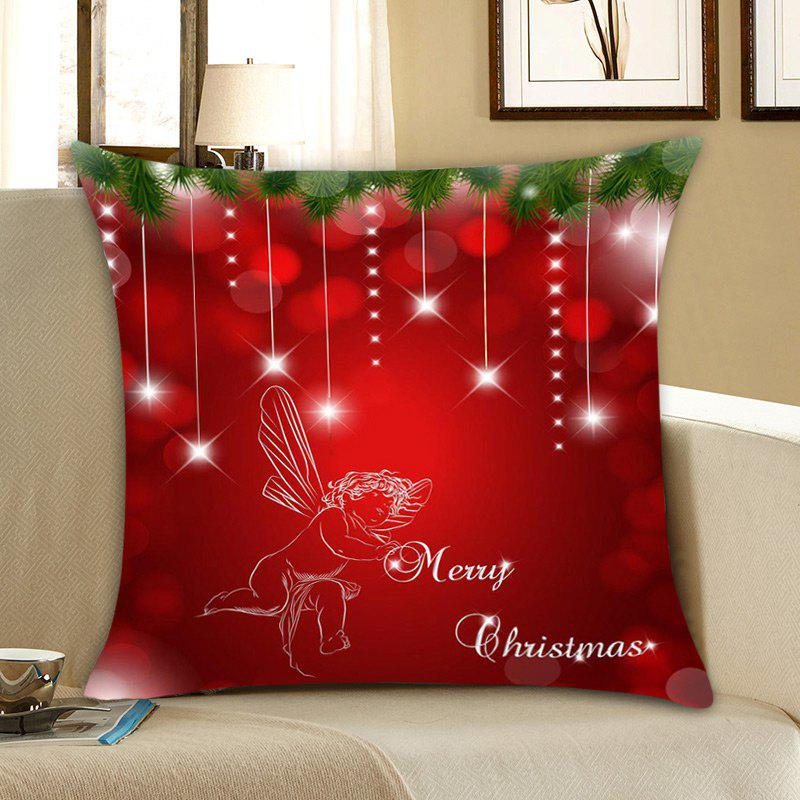 Affordable Christmas Angel Print Linen Pillowcase