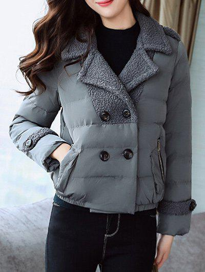 Shop Padded Short Jacket with Fur Collar