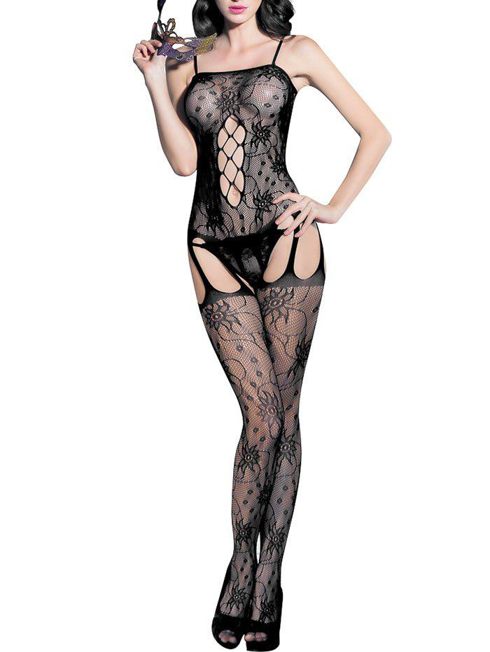Latest Open Crotch Fishnet Suspender Slip Bodystockings