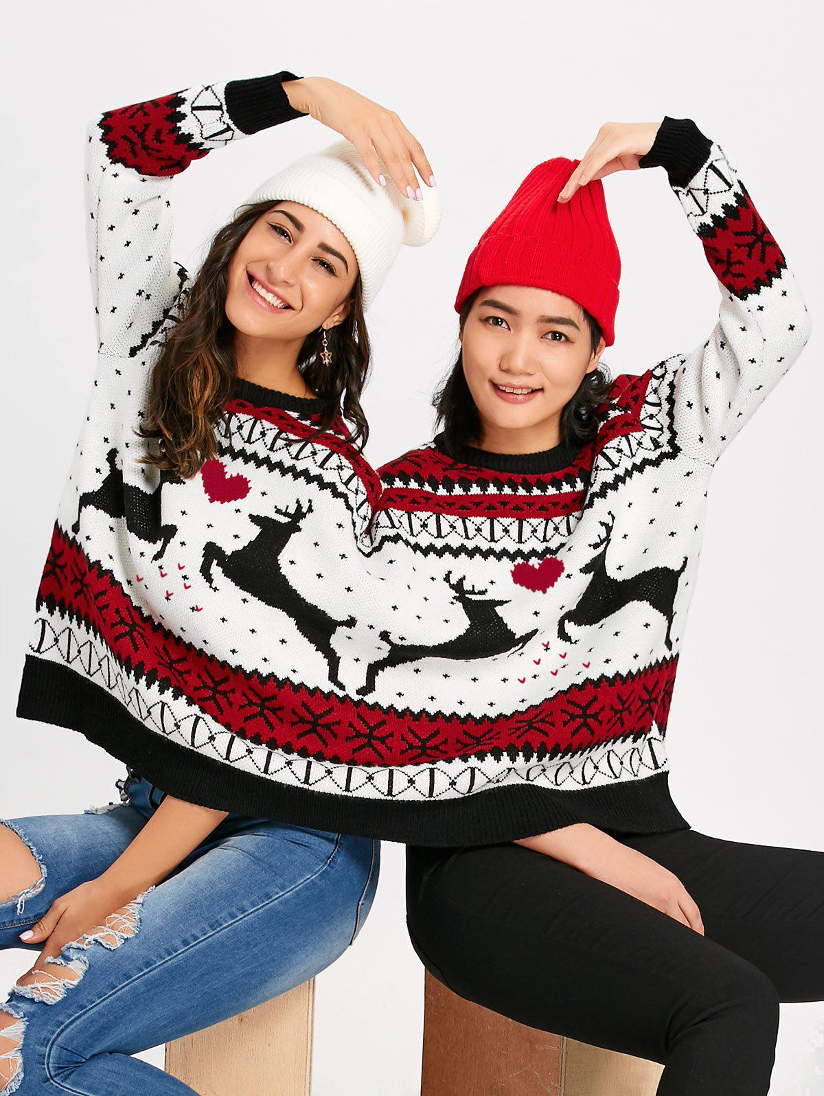 Unique Reindeer Two Person Christmas Sweater