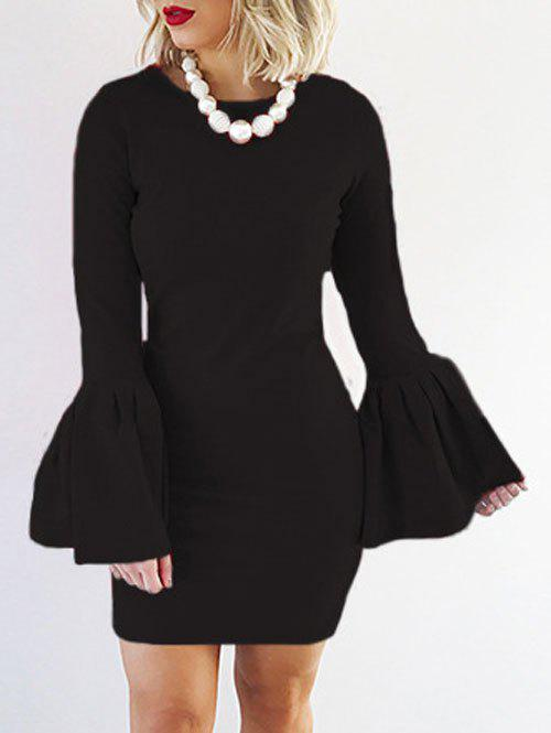 Sale Petal Sleeve Fitted Bodycon Dress