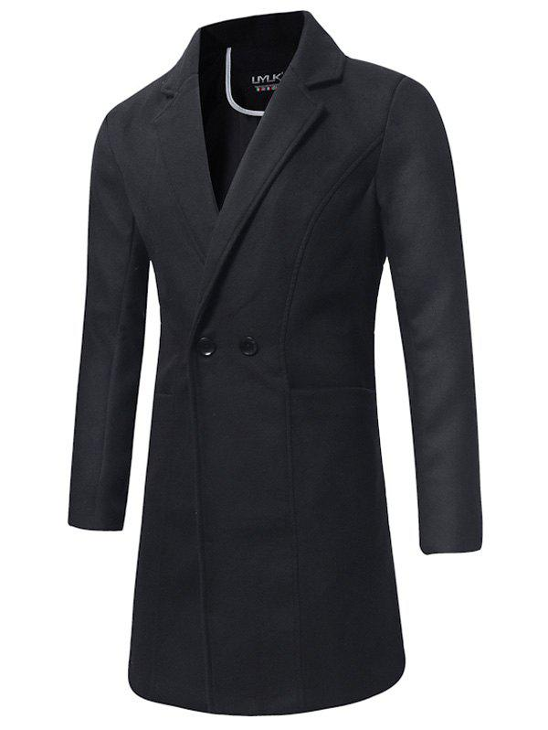 Shops Double Breasted Longline Woolen Coat