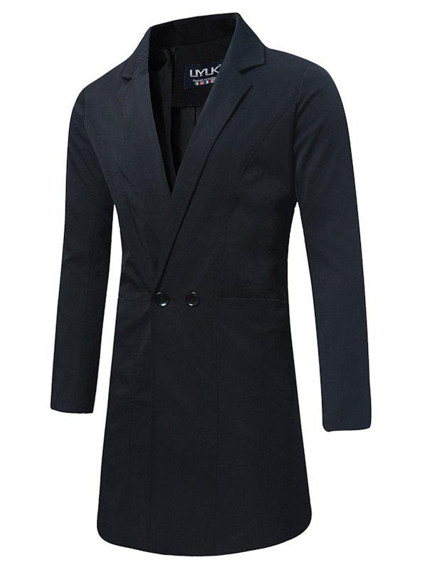 Cheap Longline Double Breasted Trench Coat