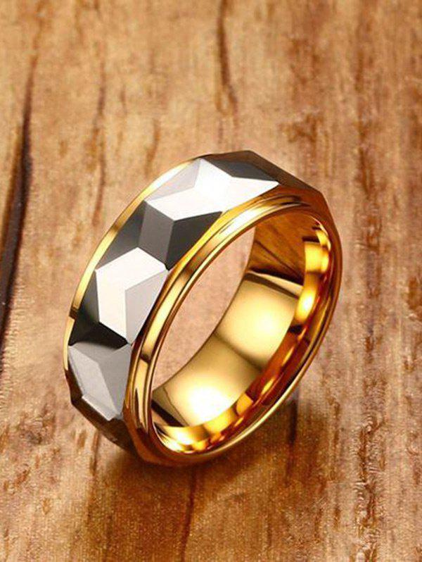 Latest Two Tone Geometric Finger Ring