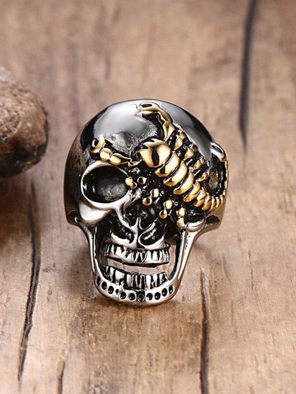 Outfit Skull Scorpion Stainless Steel Finger Ring