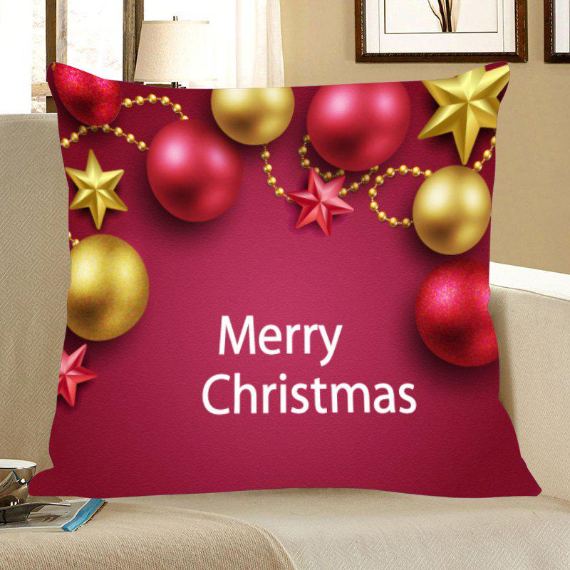Sale Christmas Balls Pattern Throw Pillow Case