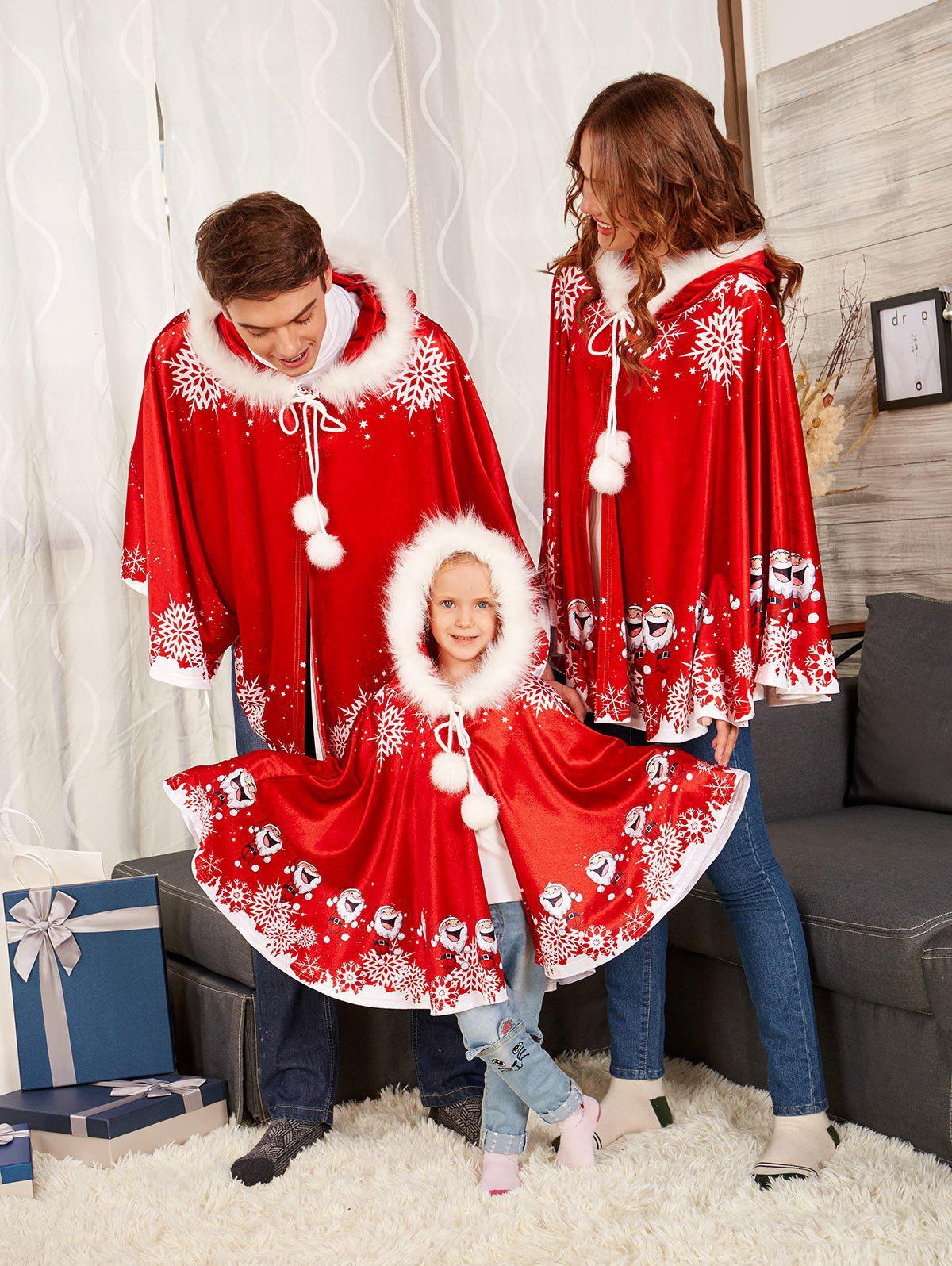Outfit Velvet Print Matching Family Christmas Costume