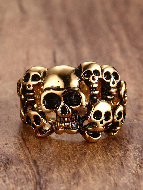Online Stainless Steel Alloy Skulls Finger Ring